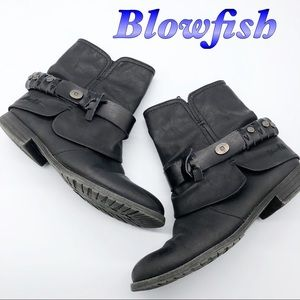 Blowfish Black Western Inspired Bootie 7